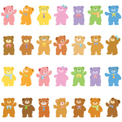 little bears in variety acting pack
