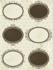 floral decorative frames,  vector