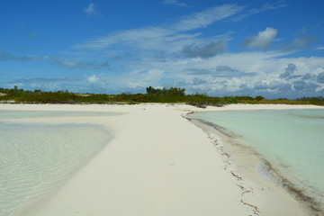 Deserted beach in the Bahamas