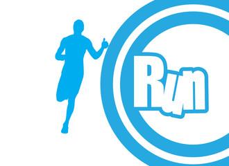 Runner. vector