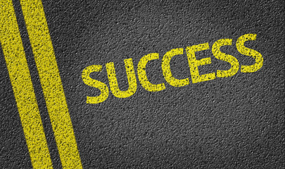 Success written on the road