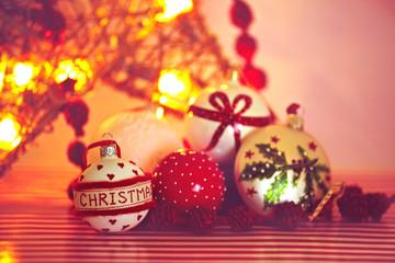 Weihnachtskugeln Nahaufnahme