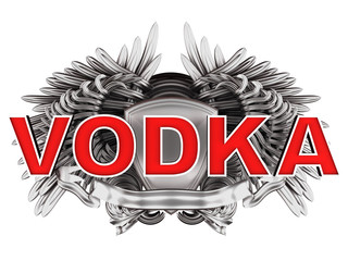 vodka label with wings