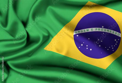 flag of Brazil background - 65560732