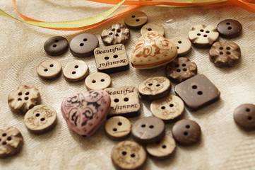 Sewing and needlework. Button
