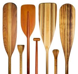 wood canoe paddles abstract