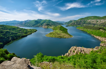 Panoramic view of Kardjali dam, Bulgaria