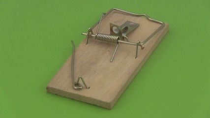 Wooden mouse trap.