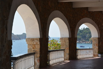 View from terrace in Acapulco