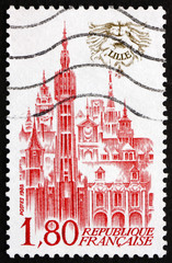 Postage stamp France 1982 View of Lille, France