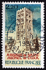 Postage stamp France 1985 St. Michel de Cuxa Abbey