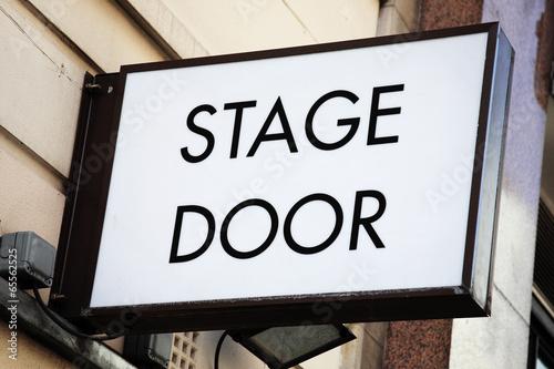Papiers peints Opera, Theatre Stage door sign