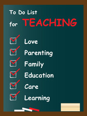Conceptual to do list on blackboard