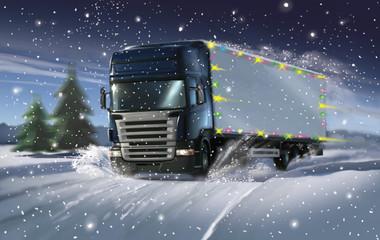 Cristmas truck