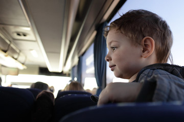 Boy in bus