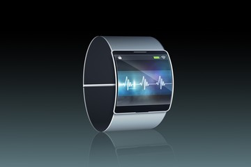 Futuristic wrist watch with display