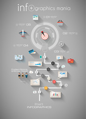 Modern Abstract Infographic Timeline with Flat UI