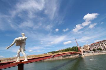 Passerelle du Palais sur la Saône