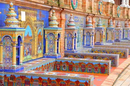 Leinwanddruck Bild Seville, Spain