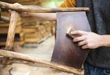 Fototapety Wooden furniture restoration