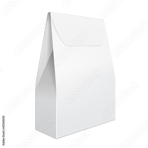White Cardboard Carry Box Bag Packaging For Food, Gift