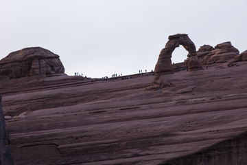 Crowded Delicate Arch Overlook