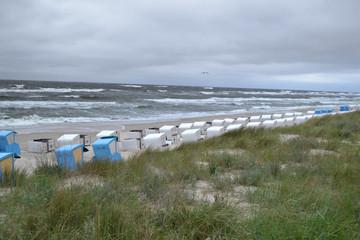 Unwetter am Strand