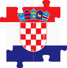 Croatia Flag in puzzle