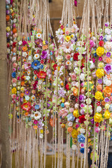 Handmade wreaths of flowers
