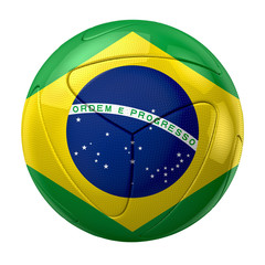 World cup 2014 brazil soccer ball - flag brazil