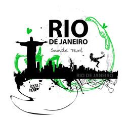 Kunstwerke Skyline von  Rio de Janeiro