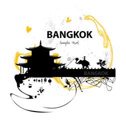 Bangkok skyline abstract