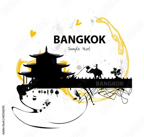 Bangkok skyline abstract - 65566595