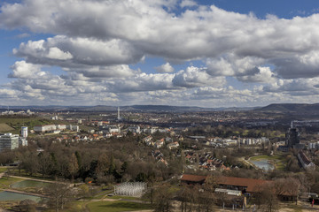 Stuttgart city skyline Germany