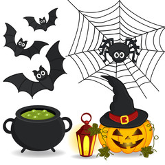 set of  icon Halloween - vector illustration eps