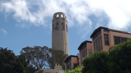 Coit Tower in San Francisco. California, USA.