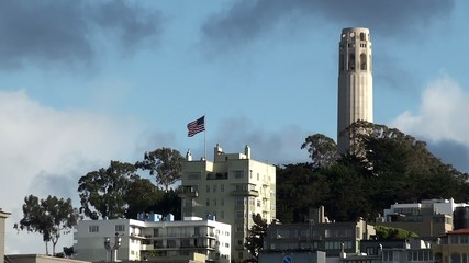 View of Telegraph Hill & Coit Tower in San Francisco