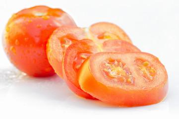 tomate et rondelle de tomate
