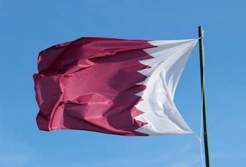 Drapeau de l'émirat du Qatar
