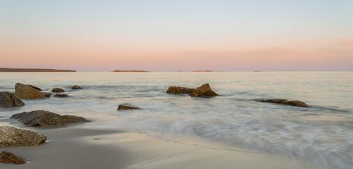 Panoramic view of ocean beach