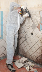 Old tiles removal