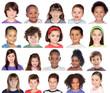 Photo collage of children