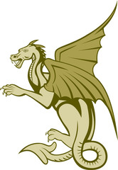 Green Dragon Full Body Cartoon