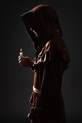 mysterious Catholic monk