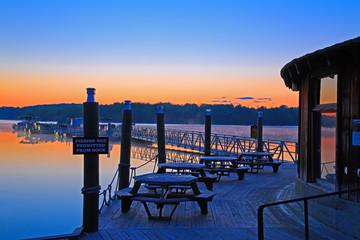 Sunrise at the Boat Dock