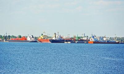 LPG (liquid petroleum gas) tanker at Black sea, Odessa, Ukraine