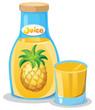 A bottle of pineapple juice