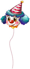 A clown balloon with a hat