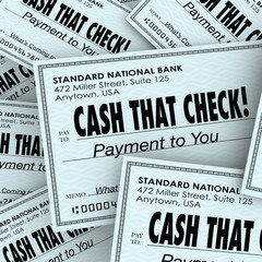 Cash That Check Money Payment Pile Fast Convenient Service