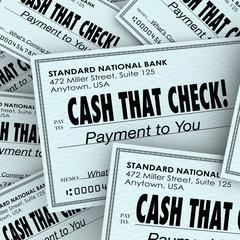 Cash That Check Money Payment Pile Fast Convenient Service